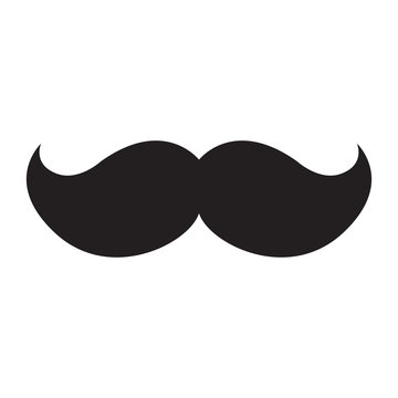 Isolated icon of a mustache, Vector illustration