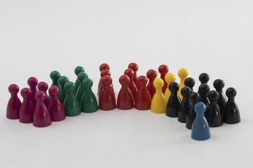 Bundestagswahl, Kegel, Sitzverteilung