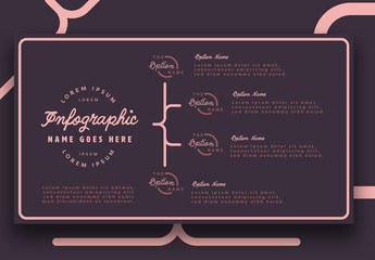 Four Section Pink and Purple Infographic