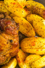 pork with potatoes and spices