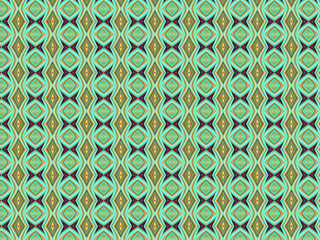 Diamonds and Squiggly Lines Background Pattern