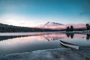 Pastel Lake Sunrise