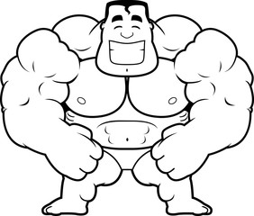 Cartoon Bodybuilder Flexing