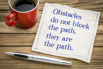 Obstacles do not block the path ...