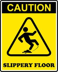 caution, slippery