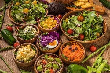 野菜サラダ  Various vegetable salads