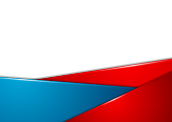 Red and blue stripes corporate abstract background