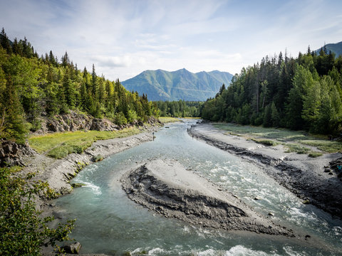 Bird Creek Fishing Spot along Seward Highway, Alaska