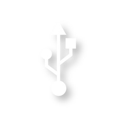 Icon mit Schatten - USB Anschluss