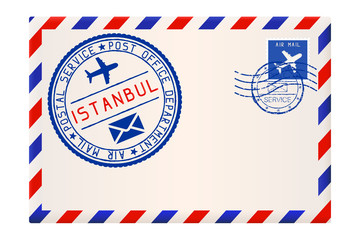 Envelope with Istanbul postmark