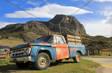 Old classic vintage truck in El Chalten, Patagonia, Argentina