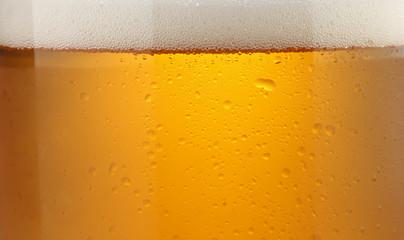 冷たいビール/クローズアップ