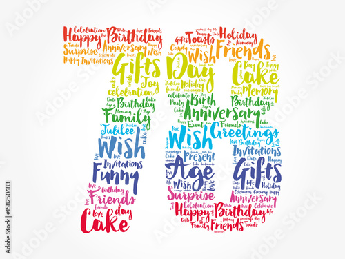 Happy 78th Birthday Word Cloud Collage Concept Stock Image And