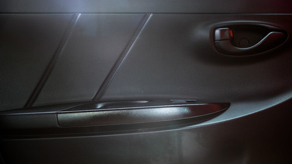Car door panel in Toyota Yaris eco car