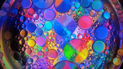Colorful abstract. Oil in water bubbles
