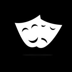 Masks theater vector illustration