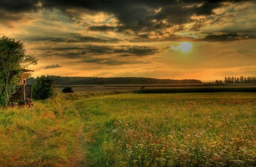 Germany Meadow Sky Hesse Hung grass HDR nature