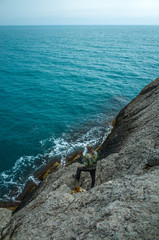 Fishermen on the rocks