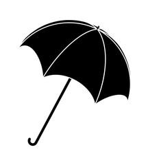 Umbrella silhouette, outline vector symbol icon design.