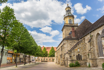 Fototapete - St. Nicolai church in the historical center of Rinteln