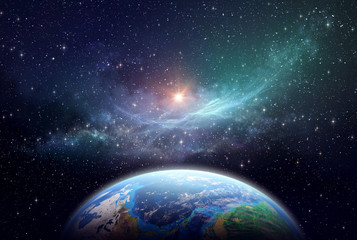 Exoplanet in deep space