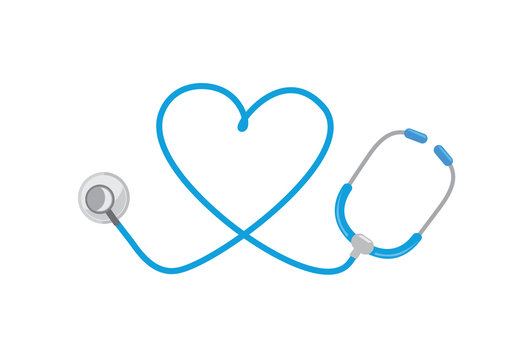 Stethoscope and heart logo. Ideal for logo and icon about medical.