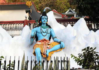 Statue of Hindu Lord Shiva, Rishikesh. India