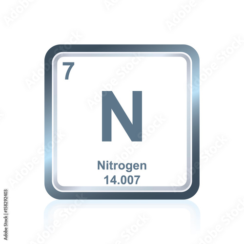 Symbol Of Chemical Element Nitrogen As Seen On The Periodic Table Of