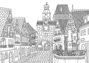 Coloring for adult with Luxembourg.