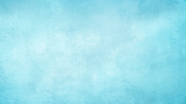 Abstract Grunge Decorative Light Blue Cyan Painted background