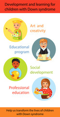 Children with Down syndrome learning