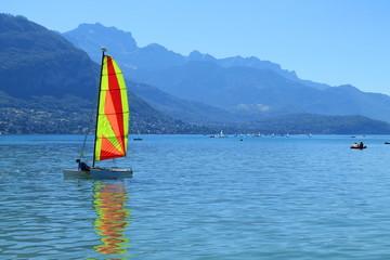 Lac d'Annecy en Haute Savoie, France