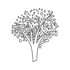 Beautiful tree isolated icon vector illustration graphic design