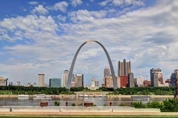 Skyline of Downtown Saint Louis, Missouri