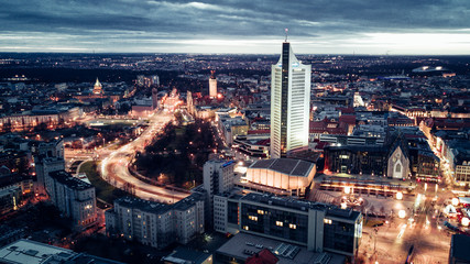 Custom vertical slats landscapes with your photo Leipzig Cityscape