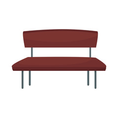 brown bench seat furniture wooden image vector illustration