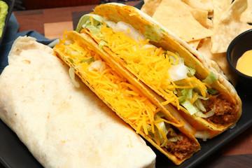 Burrito, Taco, Gordita Crunch and Nachos