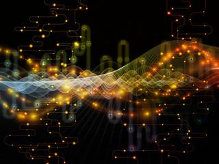 Virtualization of Data Transfers Wall mural