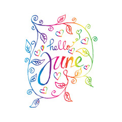 Hello June. Sketchy style.