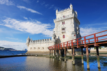 Fototapete - Belem Tower in Lisbon, Portugal