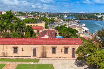 Ozama river, cityscape of Santo Domingo