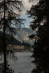 Il Lago di Misurina e le Tre Cime di Lavaredo, Cadore, Belluno, Veneto, Italia