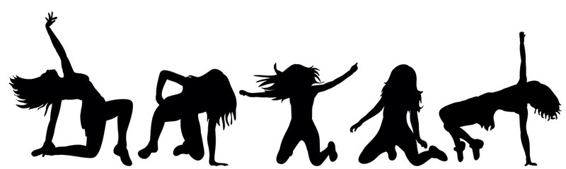 silhouette of a girl dancing sexually
