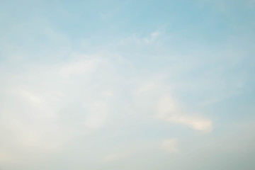 A soft cloud background ,blue sky with cloud