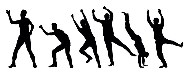 Guy dancing silhouette collection