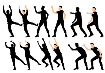 silhouette guy dance collection