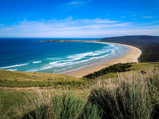 Idyllic landscape in the Catlins, South of New Zealand