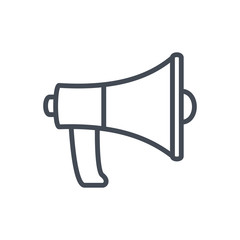 Seo Speaker Megaphone Business line Icon