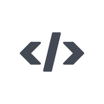 Seo Html Code Meta Tag silhouette Icon
