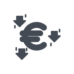 Trading Business Euro Currency silhouette Icon